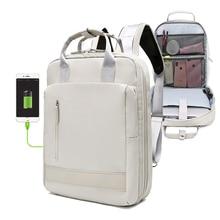Новый USB высокой емкости женский рюкзак школьная сумка для девочек-подростков, рюкзак для 15,6 дюймового ноутбука женские Молодежные путешес...