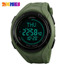 SKMEI Top Brand Outdoor Compass Sports Watches Men LED Digital Military Wristwatches Male Relogio Masculino 2017 Watch Clock