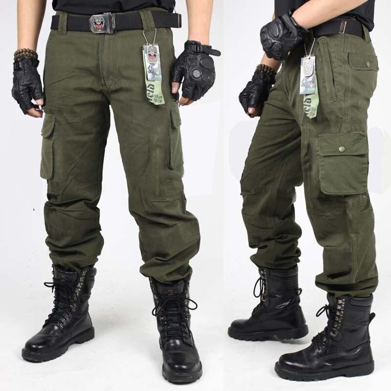 2018 Mens Overalls Männer Armee Kleidung Taktische Hosen Militär Knie Pad Männlichen Uns Kampf Camouflage Armee Stil Gerade Hosen