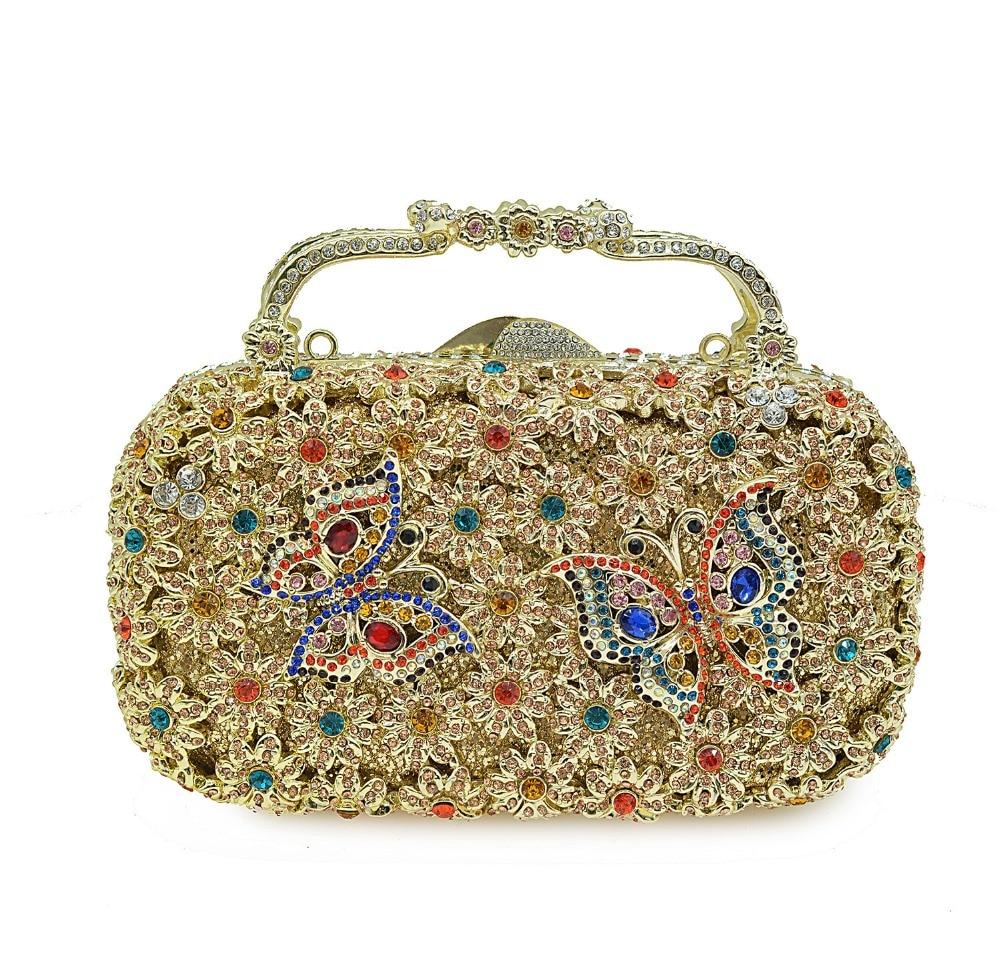 XIYUAN Diamond Bridal Wedding Purse Mini Party Handbags Women Bag Wristlets Clutches Crystal Evening Clutch Bags handbag wallet