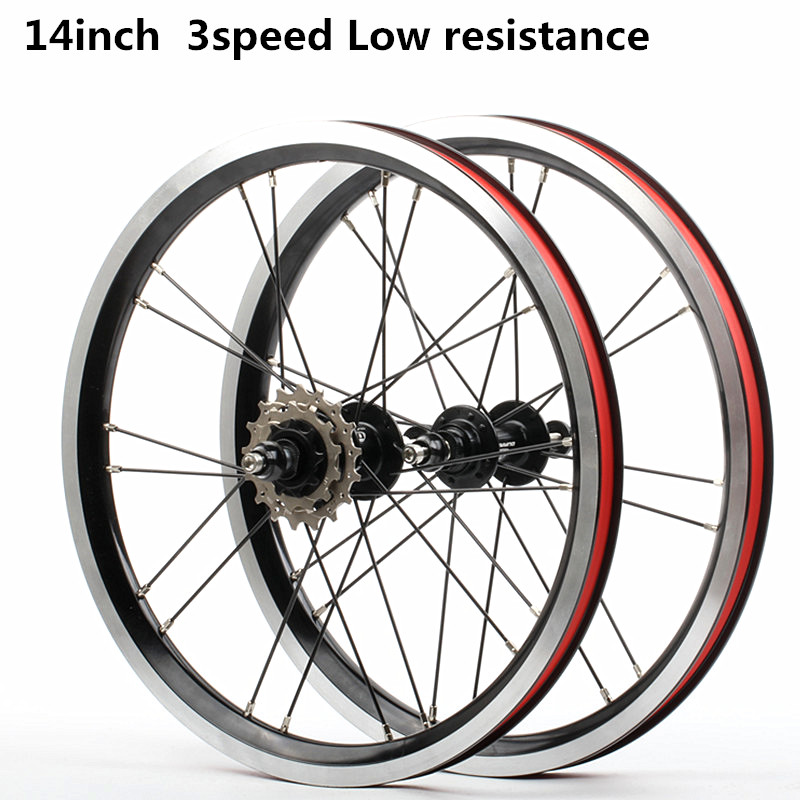 HIMALO bicycle wheelset 14 16inch Ultra lightweight Low resistance hub 20 hole 3 speed for shimano