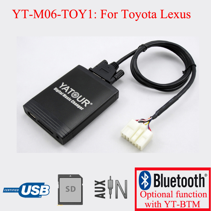 Yatour car radio USB SD AUX IN Kit for Toyota Lexus 5+7PIN car usb sd aux adapter digital music changer mp3 converter for volkswagen beetle 2009 2011 fits select oem radios