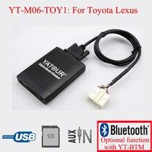 Yatour car radio USB SD AUX IN Kit for Toyota Lexus 5+7PIN