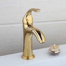 Ванная комната смеситель новый поток спрей Золотой Латунь Палуба Гора водопроводной воды Одной ручкой раковина torneira Cozinha смеситель