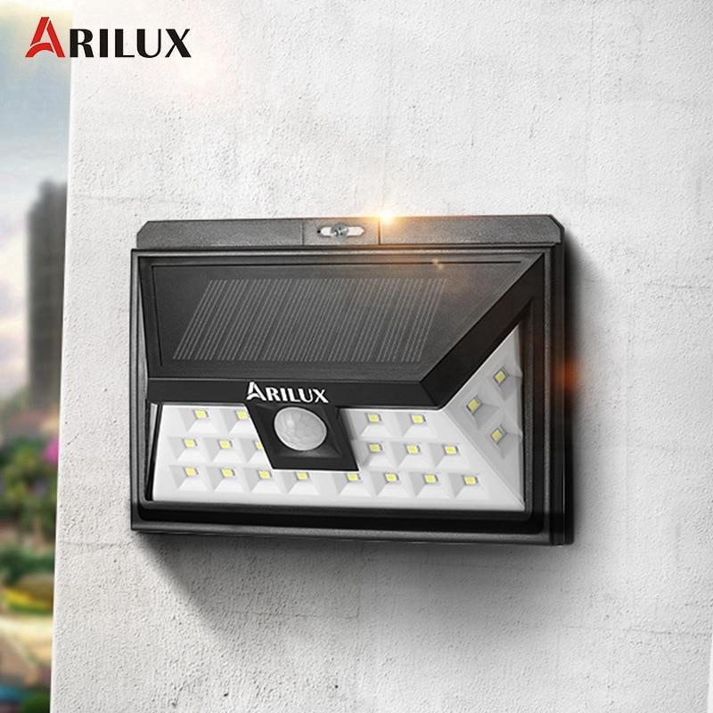 ARILUX AL-SL09 24 LED Solar Light Outdoor LED Garden Light Solar Power Waterproof PIR Motion Sensor Emergency Wall Lamp