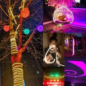 Image 3 - Led Streifen Licht 220V SMD2835 120Led/m Wasserdichte Flexible Fee Licht Outdoor Home Weihnachten Festival Dekoration Beleuchtung Streifen