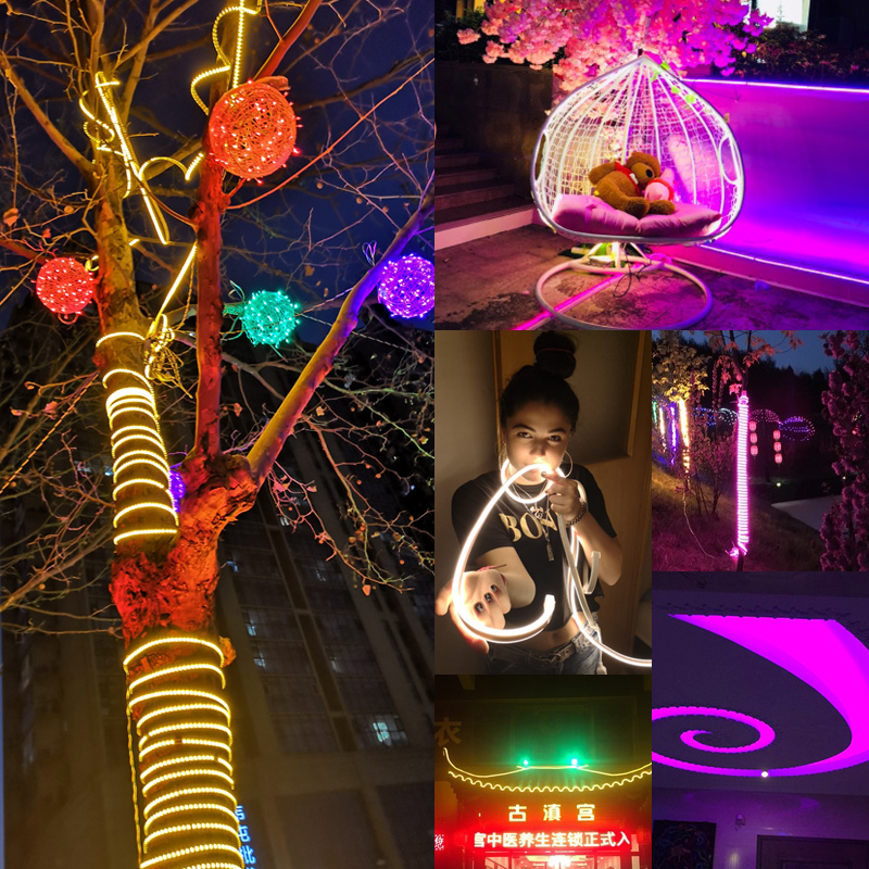 Image 3 - Led Strip Light 220V SMD2835 120Led/m Waterproof Flexible Fairy Light Outdoor Home Christmas Festival Decoration Lighting Strips-in LED Strips from Lights & Lighting