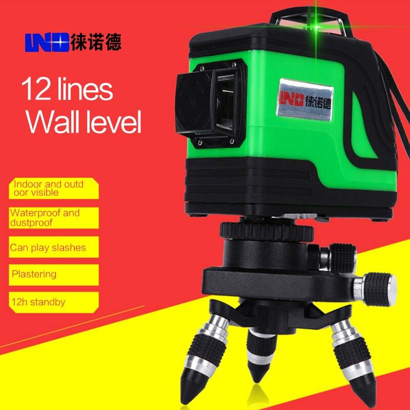 Новый LND 12 линия зеленый лазерный стены метр 8 колеи линия инфракрасный лазерный линии инструментом