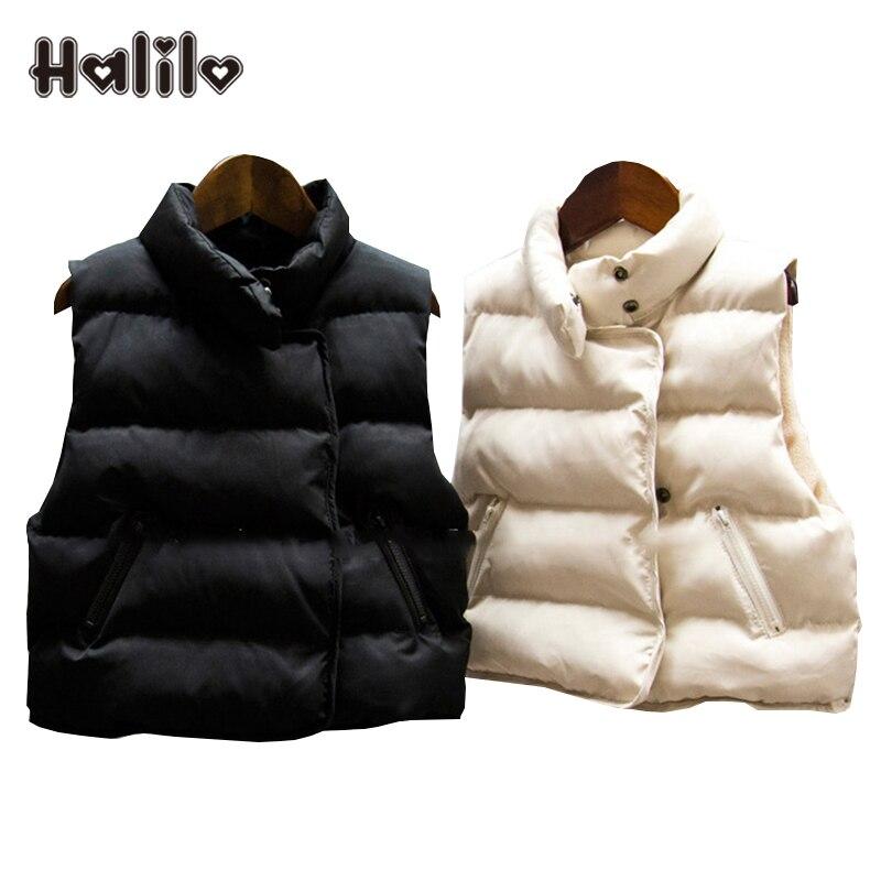 Halilo Girls Winter Vest Thicken Warm Cotton Unisex Kids Waistcoats For Boys Girls Children Clothing Autumn Toddler Girl Vest