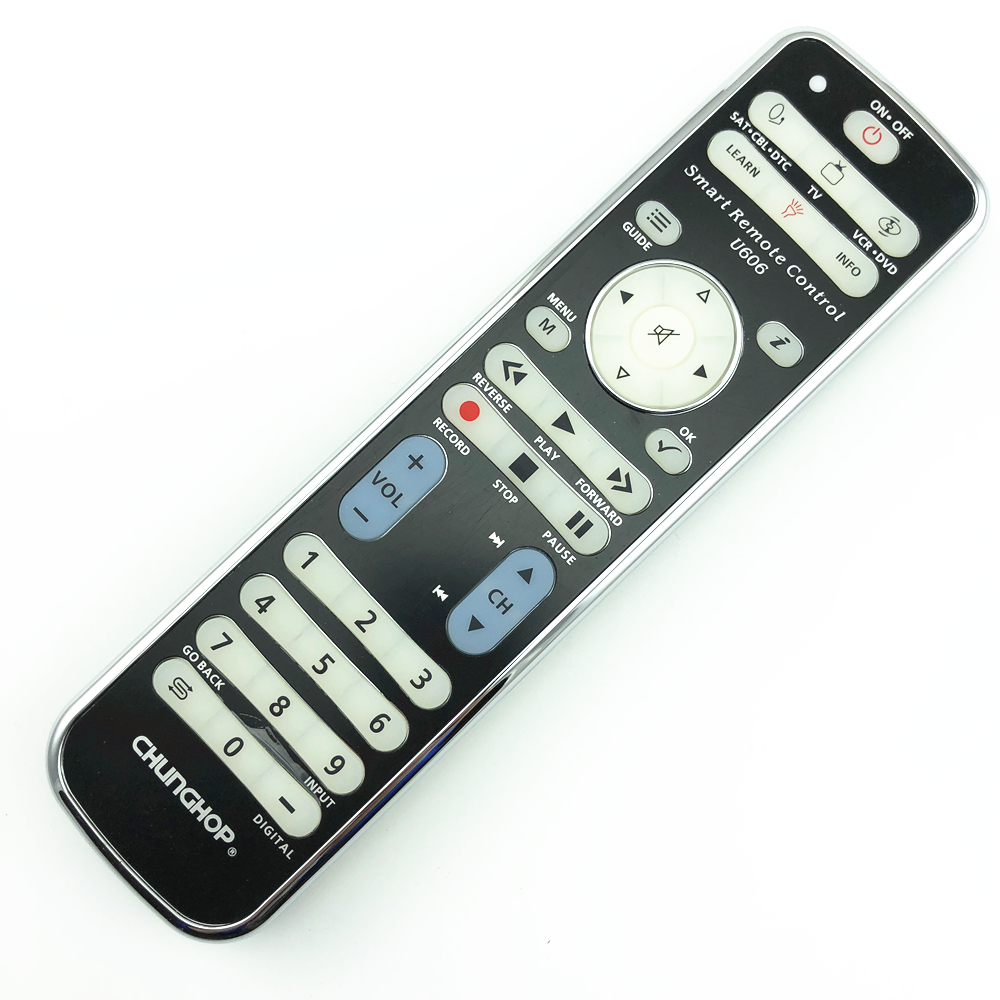 Chunghop Combinational remote control learn remote for TV SAT DVD CBL DVB-T AUX universal controller with code U606 BACKLIGHT chunghop rm l7 multifunctional learning remote control silver