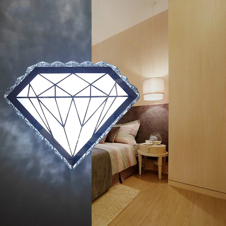 Contemporary and contracted sitting room bedroom berth lamp button type diamond led wall lamp porch corridor crystal wall lampContemporary and contracted sitting room bedroom berth lamp button type diamond led wall lamp porch corridor crystal wall lamp