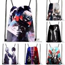 Custom Tokyo Ghoul Drawstring Backpack Bag Cute Daypack Kids Satchel (Black Back) 31x40cm#180531-03-62