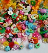 100pcs – Plastic Cartoon Animals Novelty Shank Children Candy Buttons variety styles botoes scrapbooking