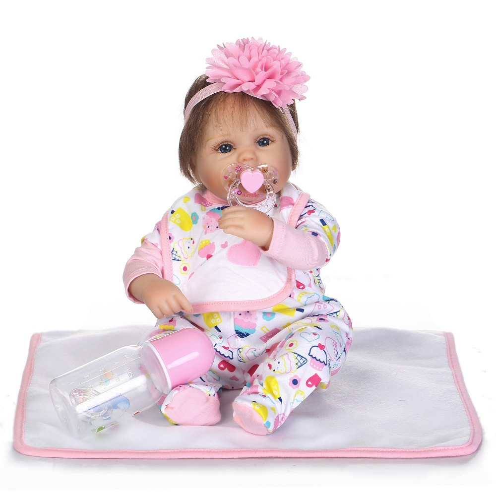 NPKCOLLECTION 40cm Soft silicone reborn baby doll toys lifelike lovely newborn babies girl dolls birthday gifts girl brinquedos стоимость
