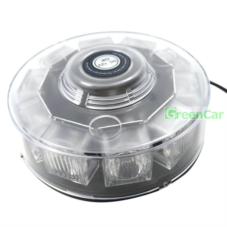 10 LEDs Super Bright 30W Atap Mobil Peringatan Cahaya Dome Flashing - Lampu mobil - Foto 3