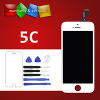 100 No Dead Pixel OEM LCD Screen For IPhone 5C Display With Digitizer Touch Screen Replacement