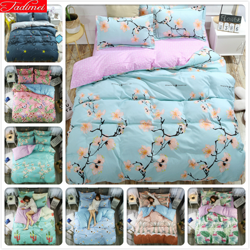 Flower Pattern Duvet Cover Adult Soft Bedding Set Quilt Comforter Pillow Case Sheet Bed Linens Single Queen King Size BedspreadsFlower Pattern Duvet Cover Adult Soft Bedding Set Quilt Comforter Pillow Case Sheet Bed Linens Single Queen King Size Bedspreads