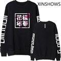 2016 EXO Kpop bts bangtan мальчики альбом же цветочные китайские буквы печать толстовка мода пуловеры толстовки для мужчин женщин