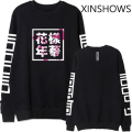 2016 EXO Kpop bts bangtan boys album same floral chinese letters printing sweatshirt fashion pullover hoodies for men women