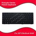 Teclado francés para hp elitebook 8460 8460 p probook 6460b 6465b 6460 fr teclado portátil con marco negro