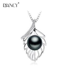 Tree Leaf Natural Pearl Jewerly 925 Silver Charming Fashion Necklace Pendant Real Freshwater Pearl Choker Necklace runzhuqiyuan 2017 100% natural freshwater pearl choker necklace 7 8mm real pearl 925 sterling silver choker necklace for women