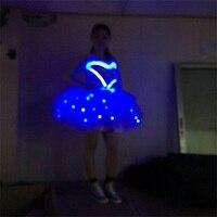 New design blue color LED costumes LED dress for dancing stage & dance wear