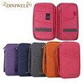 Diniwell marca unisex carteras de entradas pasaporte id tarjeta de crédito bolsa de almacenamiento portátil para el hogar de viaje organizador