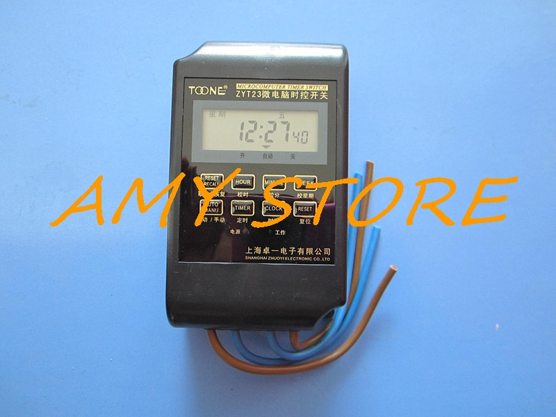 IP67 Rain Water Proof Digital Programmable Delay Timer Microcomputer 220VAC 25A Time Relay Soak In Water ZYT23 new and original tm50 3d fotek time relay microcomputer digital delay timer