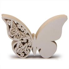 50x Paper Laser Cut Butterfly Table Name Place Escort Card Wine Glass Cards Cup Card Wedding Bridal Shower Party Decorations