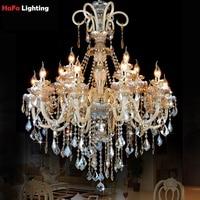 Lustre de cristal moderna Iluminação Lustre grande Exportação de Luxo K9 Candelabro de Cristal lustres de Cristal em Estilo Europeu Lustres Luzes e Iluminação -