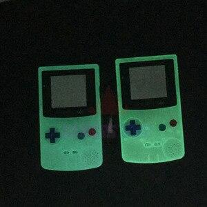 Image 3 - Пластиковый светящийся чехол с полным покрытием для ограниченной серии флуоресцентный чехол для GBC Gameboy цветной светящийся чехол