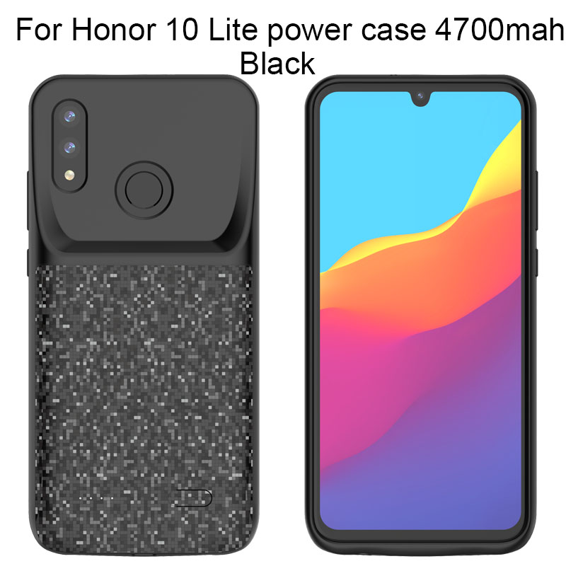 Batterie Portable étui pour huawei honour 10 5500mAh boîtier d'alimentation Pour honour 10 Lite 2019 P Smart 2019 4700mAh TPU Souple design