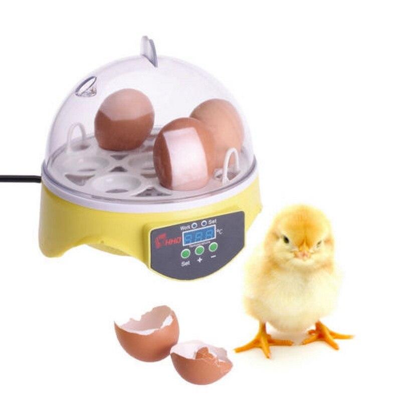 7Eggs Digital Mini Egg Incubator Temperature Hatchery Automatic Poultry Chicken Incubator Hatcher Machine Chicken Duck eu us uk