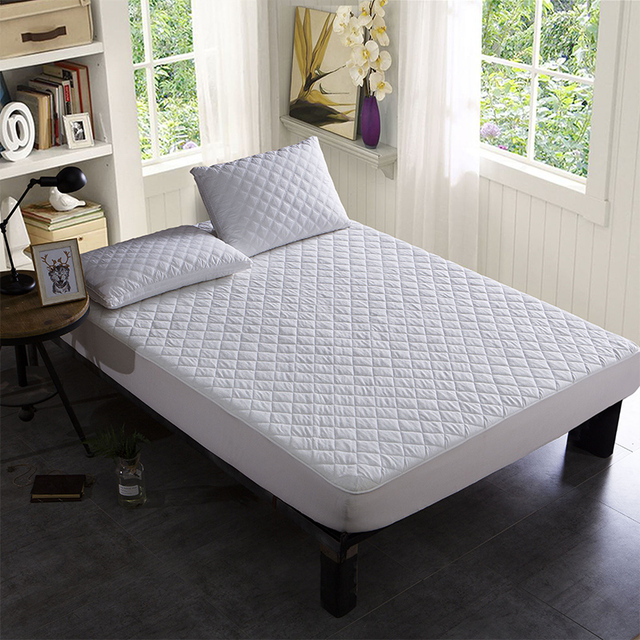 Bamboo Terry Waterproof Quilted Bed Mattress Protector 100% Waterproof Mattress Pad Fitted Sheet Colchon Matelas Anti Mites