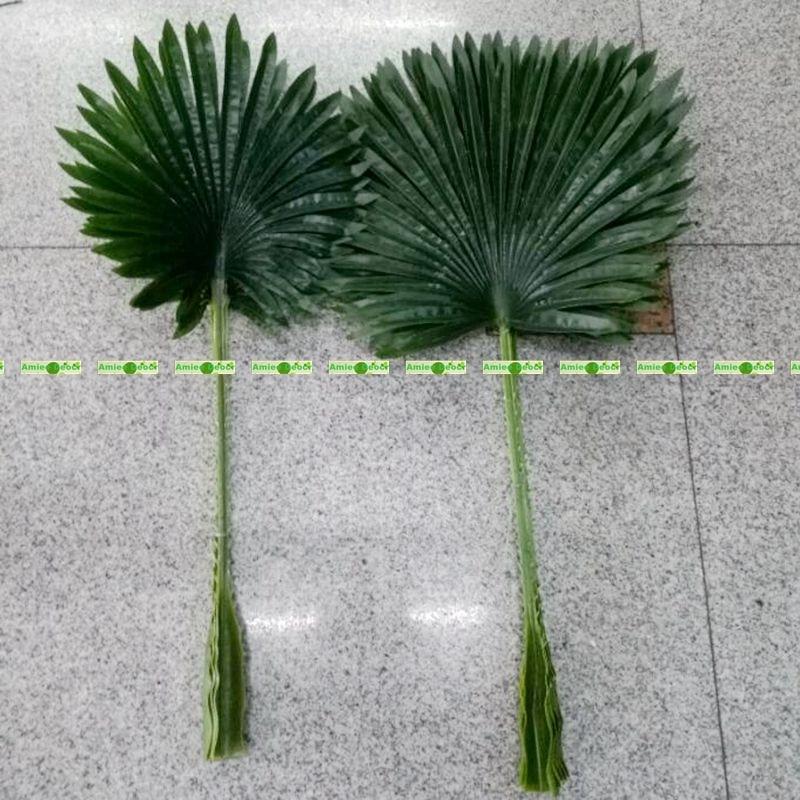 20pcs Large Latex 80cm Artificial Fan Coconut Palm Plant Tree Branch Frond  Wedding Home Patio Sago
