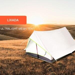 Image 5 - Lixada Ultralight 2 osoby podwójne drzwi siatkowy namiot turystyczny idealny na kemping z plecakiem i przez wędrówki namioty Outdoor Camping