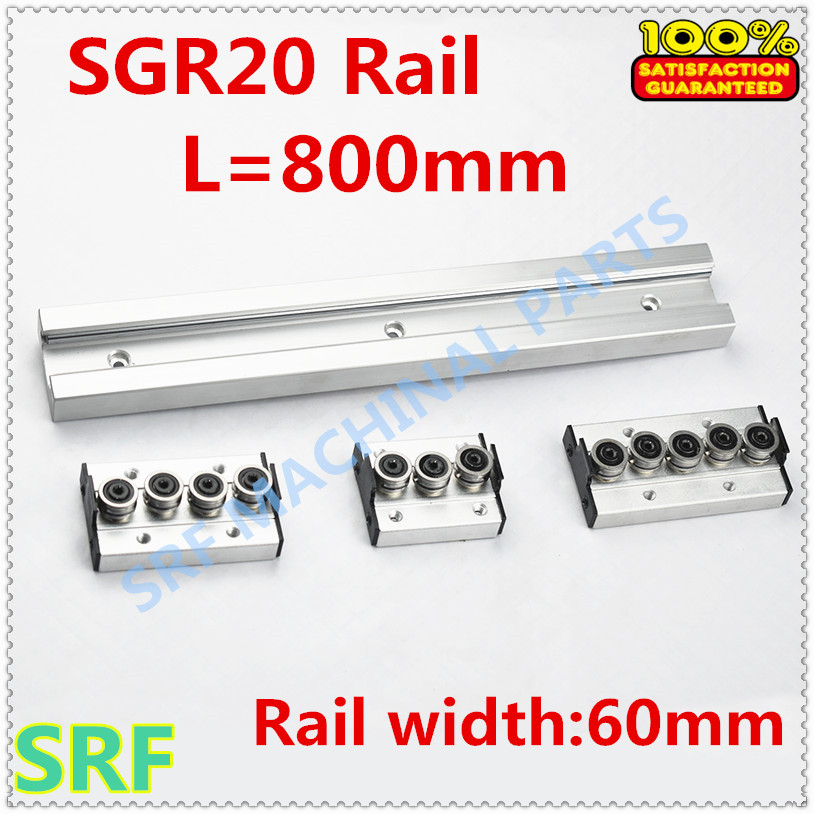 Wood working machinery aluminum profile built in double axis linear guide SGR20 roller slide rail L=800mm+1pcs SGR20 wheel blockWood working machinery aluminum profile built in double axis linear guide SGR20 roller slide rail L=800mm+1pcs SGR20 wheel block