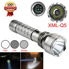 3-Modes Compass XML Q5 LED Flashlight Torch Light 18650 Rechargeable Outdoor Sports Bike Bicycle Accessories High Quality May 12