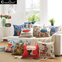 Hot Shipping 45 45 Cm Cute Cartoon Cat Cotton And Linen Pillow Sofa Car Decorative Gift