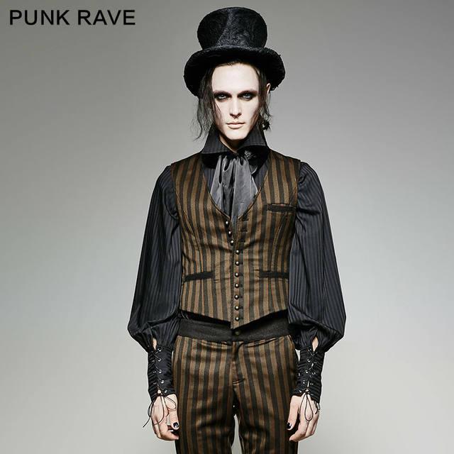 Online Shop Punk Rave Gothic Retro Vantage Vampire Mens Stripe