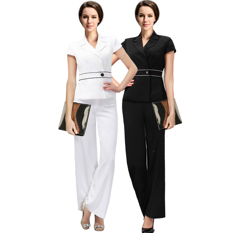 Two Piece Set Office Suit Women Striped Autumn Double Breasted Dark Blue Long Jacket+Long Pant Suits Businness Work Wear Suits