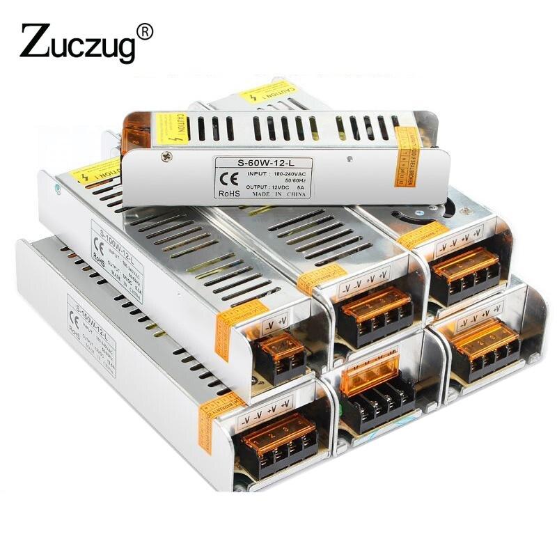 12 v LED Power Supply 3 5 8.5 10 15 30 A DC 12V LED Driver Adapter Lighting Transformers 36W 60W 120W 150W 180W 200W 240W 360W