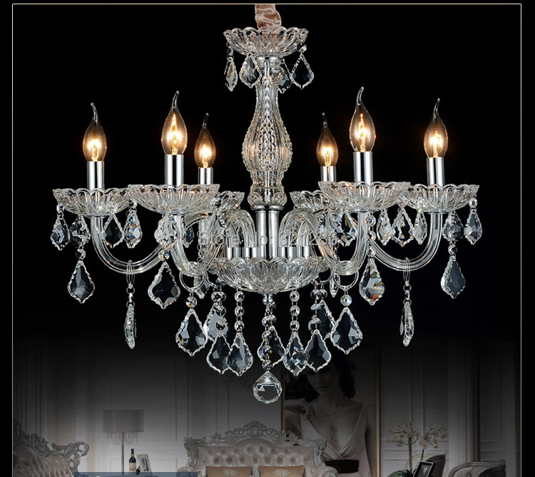 Best Hand Blown american eruopean k9 crystal Chandelier Light Cristal Lustre led 6 and 8 Arms