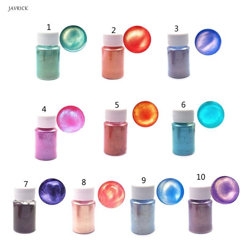 Aurora perle Pigment poudre Mica Colorants nacrés résine colorant bijoux outil de fabrication de bijoux pour accessoires de bijoux