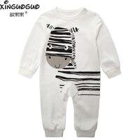 New 2016 Newborn Baby Girl Clothes 100 Cotton Cartoon Zebra Pattern Brand 0 24M Baby Boy