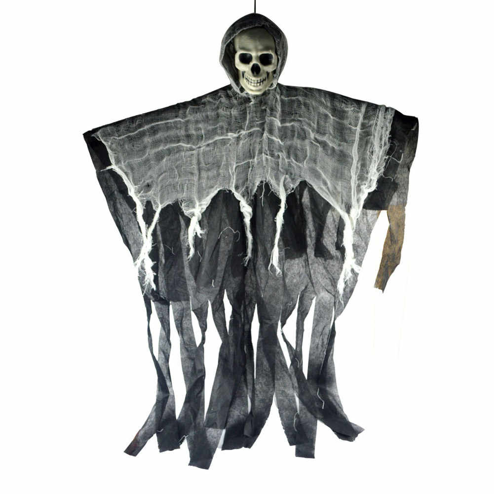 Horrible Hanging Skull Ghost Halloween Decoration for Party Haunted House E2S