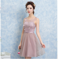 Teenage Designer Short Dresses Prom Clothes Formal Children Styles Beige Lavender Almond Girls Wedding Dress Girls