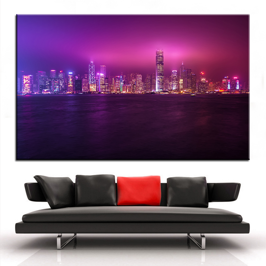 Large Size Printing Oil Painting Hong Kong Wall Painting