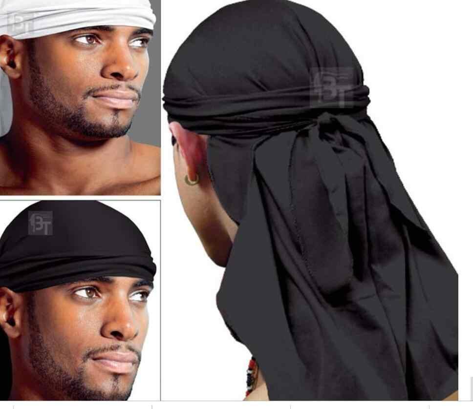 2PCS Camouflage Silky Durags for Men Women Headwraps Cap Pirate Bandanas Turban Unisex Cap Headscarf Biker Hat Sport Bicycle Bandana