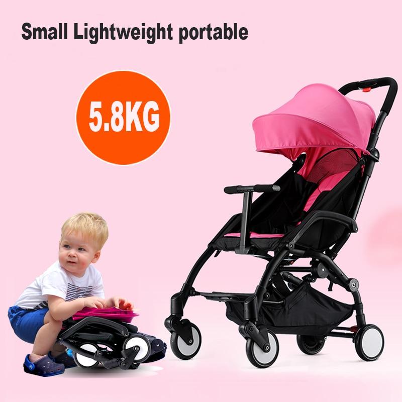 цена Baby stroller light folding child wheelbarrow baby car umbrella portable baby car